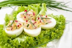 Gevulde eieren Stock Foto's