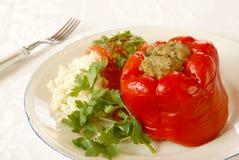Gevulde groene paprika Royalty-vrije Stock Foto