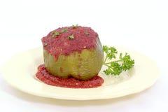 Gevulde Groene paprika's Stock Foto's