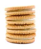 Gevulde het koekjesstapel van de vanille aroma Royalty-vrije Stock Fotografie
