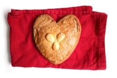 Gevulde koek (filled cookie with almond paste) Stock Photos