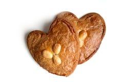 Gevulde-koek (gefülltes Plätzchen mit Mandelpaste) Lizenzfreie Stockfotos