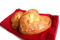 Gevulde-koek (gefülltes Plätzchen mit Mandelpaste) Stockfotografie