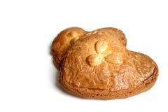 Gevulde-koek (gefülltes Plätzchen mit Mandelpaste) Lizenzfreie Stockfotografie