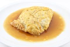 Gevulde omelet stock fotografie