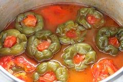Dolmasi van Biber, Turks voedsel Stock Afbeelding