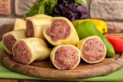 Gevulde peper met vlees Royalty-vrije Stock Foto's