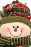 Gevulde sneeuwman Stock Foto