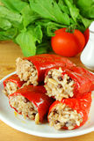 Gevulde Spaanse peper Stock Foto