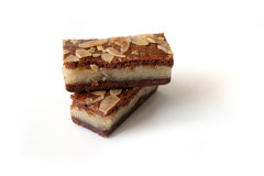 Gevulde speculaas (brown spiced biscuit) on white Royalty Free Stock Photos