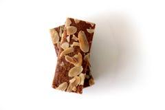 Gevulde-speculaas u. x28; braunes gewürztes biscuit& x29; auf Weiß Stockfotos