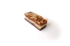 Gevulde-speculaas u. x28; braunes gewürztes biscuit& x29; auf Weiß Stockfotografie
