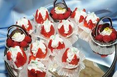 Gevulde strawberries2 Royalty-vrije Stock Afbeeldingen