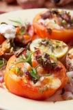 Gevulde tomaat royalty-vrije stock foto's