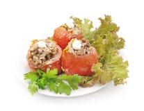 Gevulde tomaten Royalty-vrije Stock Foto's