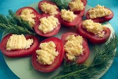 Gevulde tomaten Royalty-vrije Stock Afbeeldingen