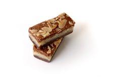 Gevuldespeculaas & x28; bruine gekruide biscuit& x29; op wit Royalty-vrije Stock Afbeelding