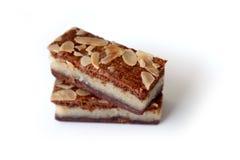 Gevuldespeculaas & x28; bruine gekruide biscuit& x29; op wit Stock Fotografie