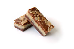 Gevuldespeculaas & x28; bruine gekruide biscuit& x29; op wit Stock Afbeelding
