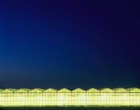 Gewächshäuser nachts stockfotos