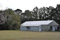 Gewächshaus bei Charleston Tea Plantation stockfotografie