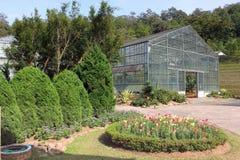 Gewächshaus in den botanischen Gärten Stockbilder