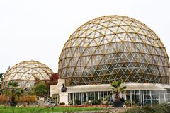 Gewächshaus des botanischen Gartens in Jibou, Rumänien Stockbilder