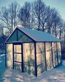 Gewächshaus in Schweden Stockbild