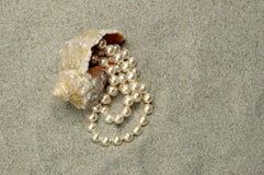 Gewässerschnecke mit Perle Stockfoto