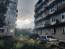 Gewöhnlich russisches Townscape lizenzfreies stockfoto