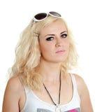 Gewöhnliche blonde Frau lizenzfreies stockbild