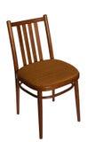 Gewöhnlicher Stuhl, Vorderansicht. Stockbild