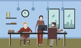 Gewöhnliches Büroleben vektor abbildung