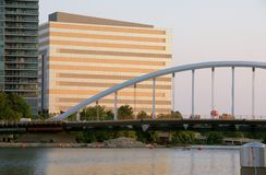 Gewölbte Brücke Stockfoto