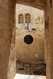 Gewölbte Durchführung in der alten Stadt von Jerusalem Stockbilder