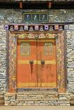 Gewölbte Eingang Bhutan-Art Stockbild