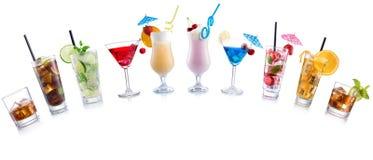 Gewölbte Form des Cocktails Mischung stockbilder