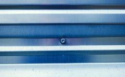 Gewölbter Zinkmetallbeschaffenheitshintergrund lizenzfreies stockfoto