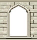 Gewölbtes Fenster, Stein Lizenzfreie Stockfotos