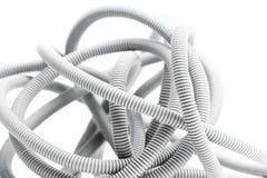 Gewölbtes Rohr für elektrische Installationen Stockfoto