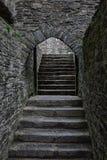 Gewölbtes Tor im Schloss stockfotos