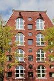 Gewölbtes und rundes Windows-Haus in Amsterdam Lizenzfreie Stockbilder