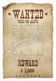 Gewünschte Tote oder lebendig Lizenzfreie Stockbilder
