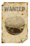 Gewünschter Hamburger stockfoto