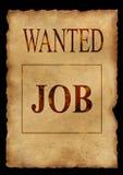 Gewünschter Job Lizenzfreie Stockfotos