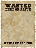 Gewünschtes Plakat (mit Ausschnittspfad) Lizenzfreies Stockbild