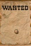Gewünschtes Plakat mit einem Loch Lizenzfreies Stockbild