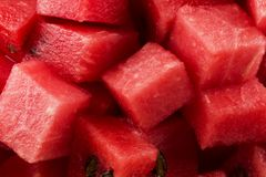 Gewürfelte Wassermelone lizenzfreies stockbild