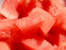 Gewürfelte Wassermelone stockbilder