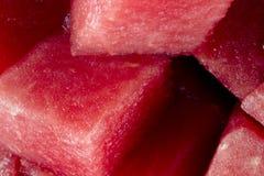 Gewürfelte Wassermelone Bio stockfotos